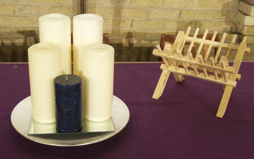 Advent Candles & Crib